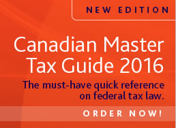 Canadian Master Tax Guide, 2016 The must-have quick reference on federal tax law.