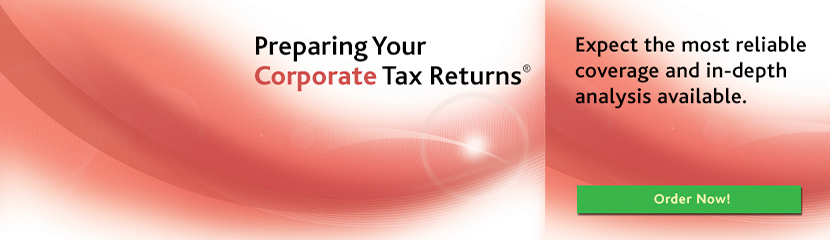 Preparing your Corporate Tax Returns. Order your copies today!