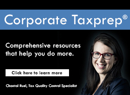 Corporate Taxprep – The most robust, intelligent and innovative T2 software in the market.