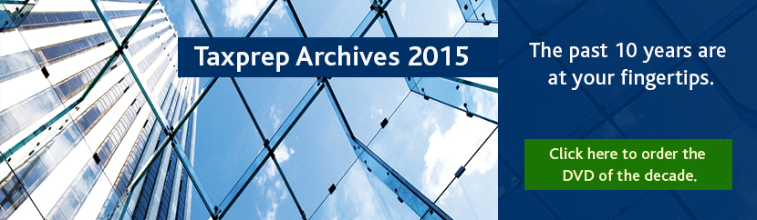 Flashback with Taxprep® - The past decade is at your fingertips with Taxprep Archives.