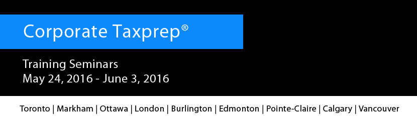 Register today for Corporate Taxprep – Spring 2016