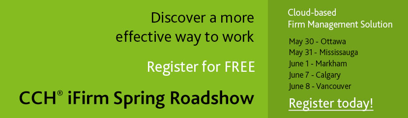 Register today for CCH iFirm Roadshow – Spring 2016